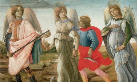 Santi Arcangeli : Michele Gabriele Raffaele dans immagini sacre The-Three-Archangels-and--006