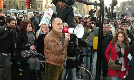 Protests against tuition fees rise on 9 December 2010. Only for use with live blog.