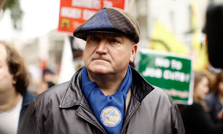 Bob Crow, general secretary of the RMT union