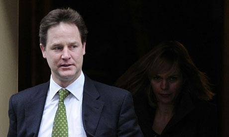 British Deputy Prime Minister Nick Clegg