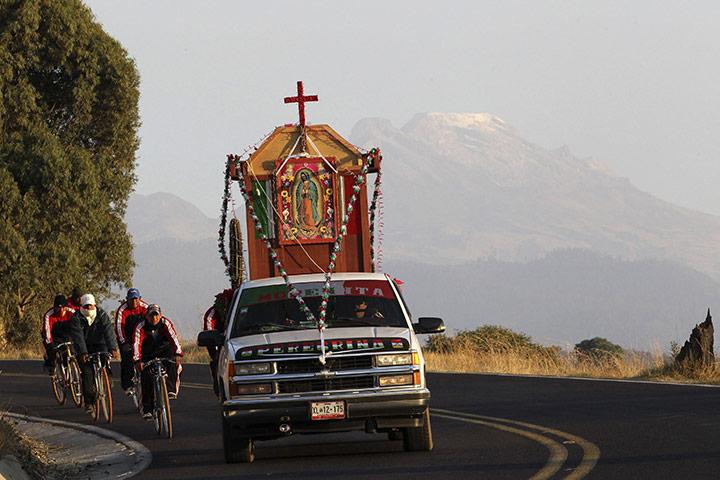 Pilgrims in Puebla