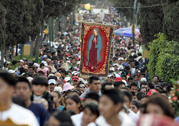 Pilgrims in Mexico City