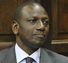 Kenya's former higher education minister William Ruto stands to answer corruption charges.