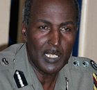 Kenya's former police chief Mohammed Hussein Ali addresses a news conference.