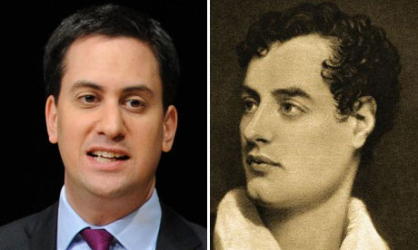 Ed Miliband and Lord Byron