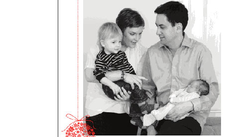 Ed Miliband's Christmas card for 2010.