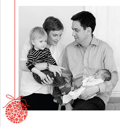 Leader Christmas Cards: Ed Milliband's Christmas card