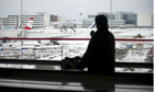 Charles de Gaulle airport in the snow