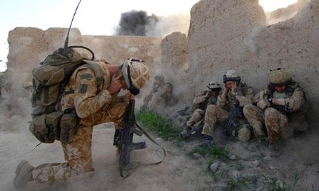 Royal marines attack Taliban insurgents Afghan city Sangin