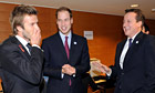 David Beckham, Prince William and David Cameron