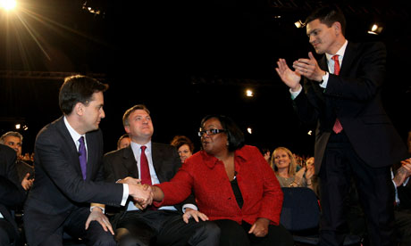 Diane Abbott congratulates Ed Miliband