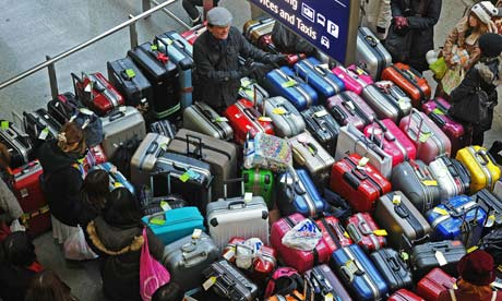 Luggage at St Pancras