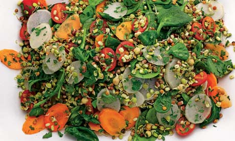 Sprout salad recipe   Yotam Ottolenghi   Vegetarian   Life and style ...