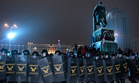 Riot police in Minsk, December 20 2010