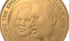 Commemorative coin issued by the Royal Mint to mark the royal engagement