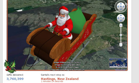 Norad Santa tracker