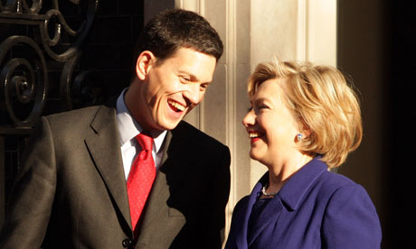 David Miliband and Hillary Clinton