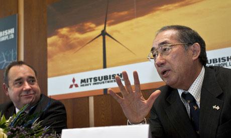 Alex Salmond and Mitsubishi Power Systems Europe chief executive Akio Fukai