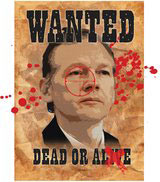 Julian Assange wanted poster