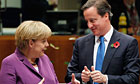 Angela Merkel and David Cameron at the EU summit