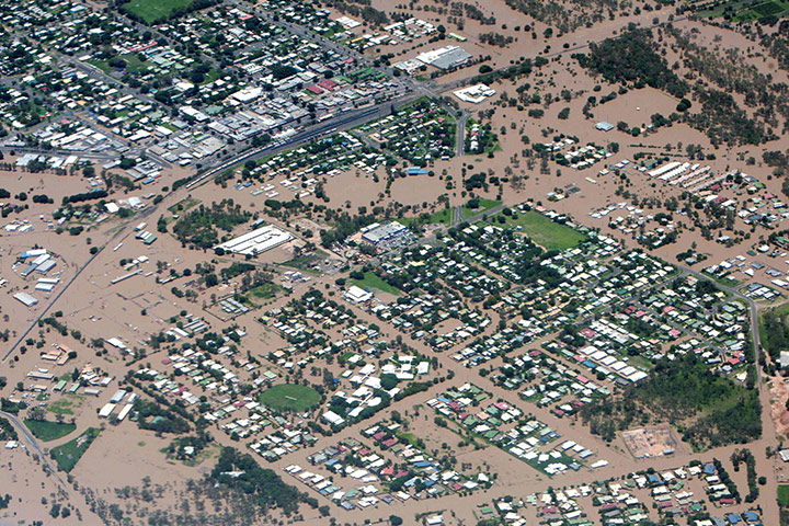 Queensland Flooding: An aerial view of Emerald, Queensland