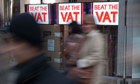 Shops hold promotions ahead of VAT rise