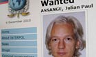 The web page for WikiLeaks founder Julian Assange