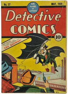 Rare 1939 first edition of Batman comic
