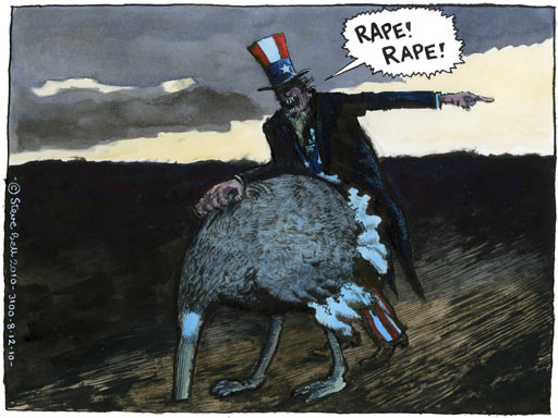08.12.10: Steve Bell on the Julian Assange sexual assault allegations