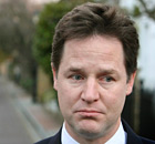 Nick Clegg outside his home in London on 9 December 2010.