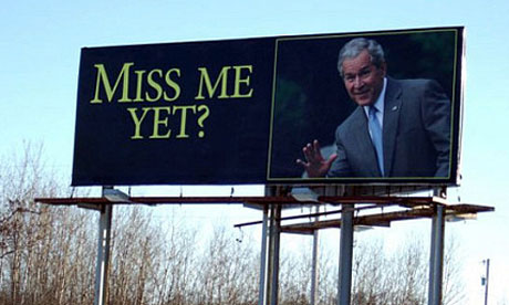 'Miss me yet?' George Bush billboard, Minnesota