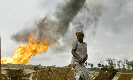 Shell Nigerian gas flare 001 Tullow Oil given licence to flare Ugandan gas