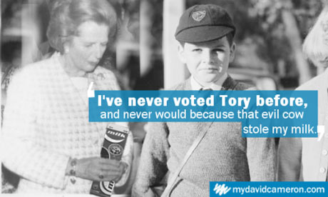 A spoof of the 'I've never voted Tory before' Conservative poster. Credit: Jack Hart