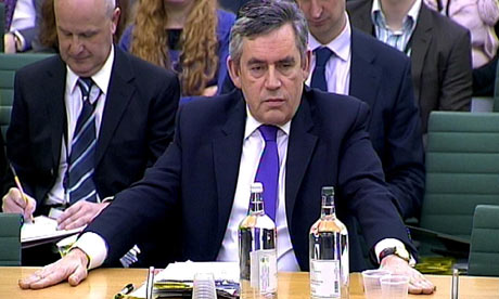 Gordon Brown speaks to the Commons liaison committee on 2 February 2010.