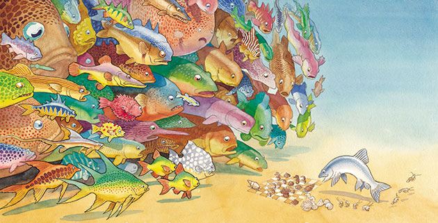 Chris Wormell: one smart fish by Chris Wormell