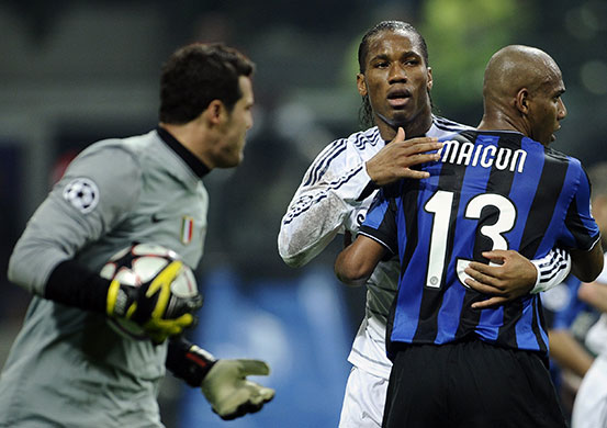 At the final whistle, Inter fans celebrated as if they had reached the last eight. Chelsea will have other ideas at the Bridge. It's too close to call   Henry Winter