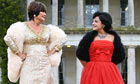 Sandie Shaw and Lily Allen at the launch of the Vintage festival at Goodwood