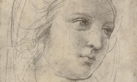 Raffaello Sanzio, Head of a muse