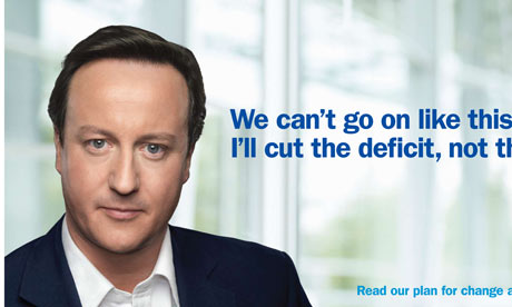 Conservative party election poster