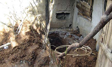The hole where a 16-year-old girl was buried alive by her relatives in Adiyaman, southeastern Turkey.