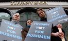 Tiffany Bushmen protest
