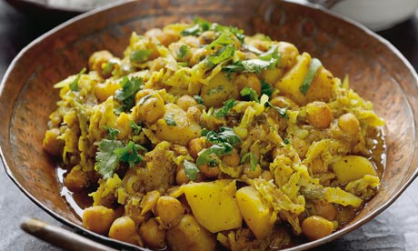 chicken or turkey and chickpea curry stew with yogurt and cilantro ...