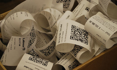 MPs' expsenses in receipt form