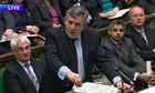 Prime Minister Gordon Brown speaks during Prime Minister's Questions in the House of Commons