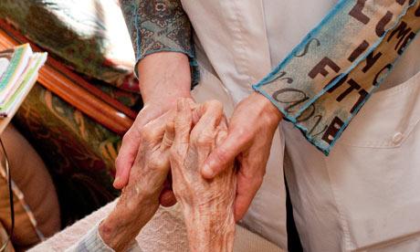 nurse with elderly woman