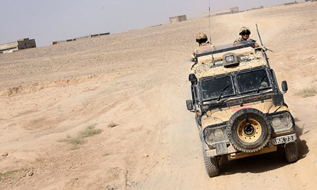 A Snatch Land Rover in Afghanistan in 2006.