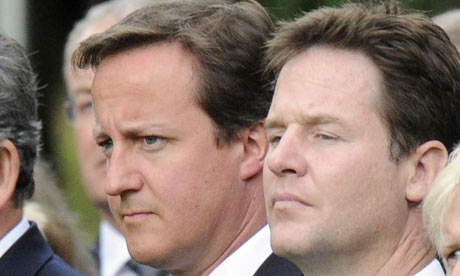 David Cameron and Nick Clegg.