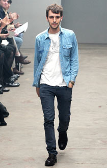 Fashion designer Marios Schwab in double denim