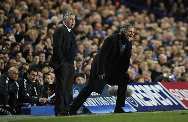 Chelsea v Inter: Managerial adversaries Ancelotti and Mourinho do their bit on the touchline