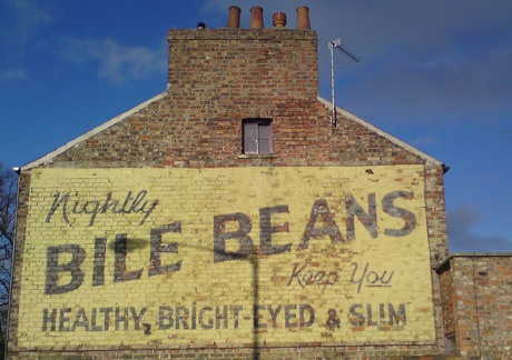 Bile Beans painted advert ghostsign, York